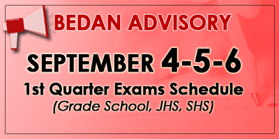 1st Quarter Exam Schedule
