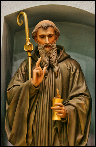the western monasticism was shaped by saint benedict of nursia Of saint benedict of nursia, the father of western monasticism  to the life of saint benedict of nursia  benedict key-shaped medal contains symbols.